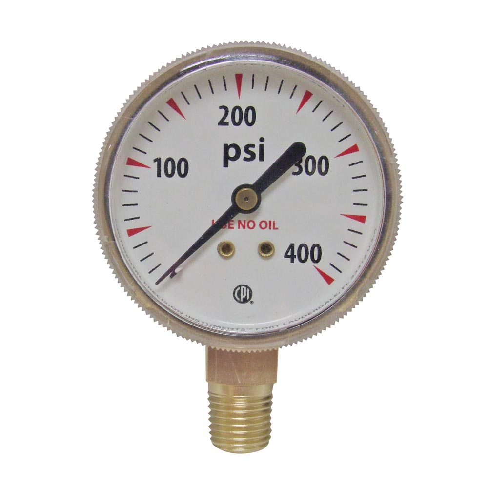 12 Pack 2 1//2 in Replacement Gauges Brass 1//4 in 4000 psi NPT